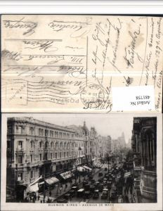481758,Argentina Buenos Aires Avenida de Mayo Straßenansicht