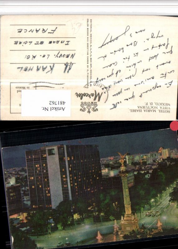 481762,Mexico City Hotel Maria Isabel vista Nocturna Säule
