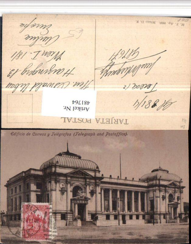 481764,Mexico City Edificio de Correos y Telegrafos Post Gebäude