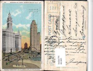 481803,Illinois Chicago Wrigley Building Tribune Tower Allerton Hotel