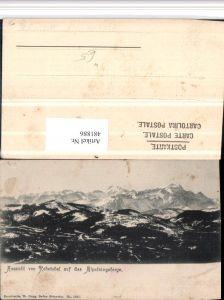 481886,Aussicht von Rehetobel auf Alpsteingebirge Bergkulisse Kt Appenzell