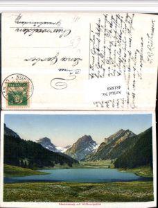 481888,Sämbtiseralp See m. Widderalpstöck Bergkulisse Kt Appenzell
