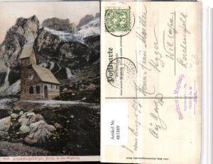 481889,Alpsteingebirge Kirche in der Meglisalp Kt Appenzell
