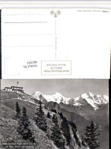 481955,Schynige Platte b. Gündlischwand Hotel m. Eiger Bergkulisse Kt Bern