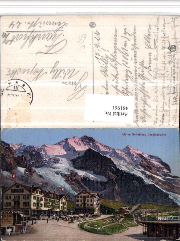 481961,Kleine Scheidegg Jungfraubahn Bergkulisse Kt Bern