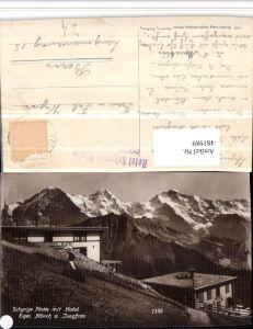 481989,Schynige Platte b. Gündlischwand Hotel m. Eiger Bergkulisse Kt Bern