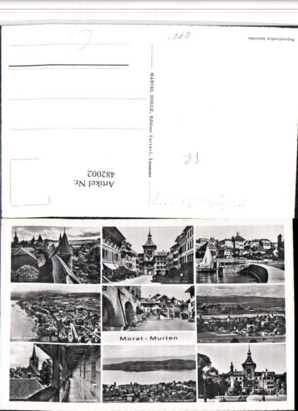 482002,Morat Murten Totale Brücke Schutzwehr Mehrbildkarte Kt Freiburg