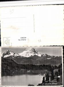 482003,Montsalvens b. Charmey Lac See m. Moleson Bergkulisse Kt Freiburg
