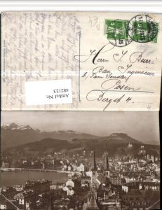 482123,Luzern Teilansicht Bergkulisse