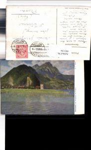 482156,Künstler AK J.C. Kaufmann Stansstad Bergkulisse Kt Nidwalden