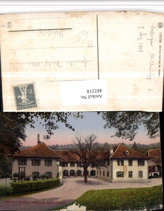 482218,Bad u. Kurhaus Attisholz bei Solothurn