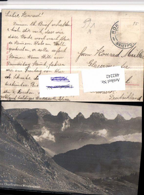 482242,Churfirsten v. Windenpass b. Alt St. Johann pub Max Frei Kt St Gallen