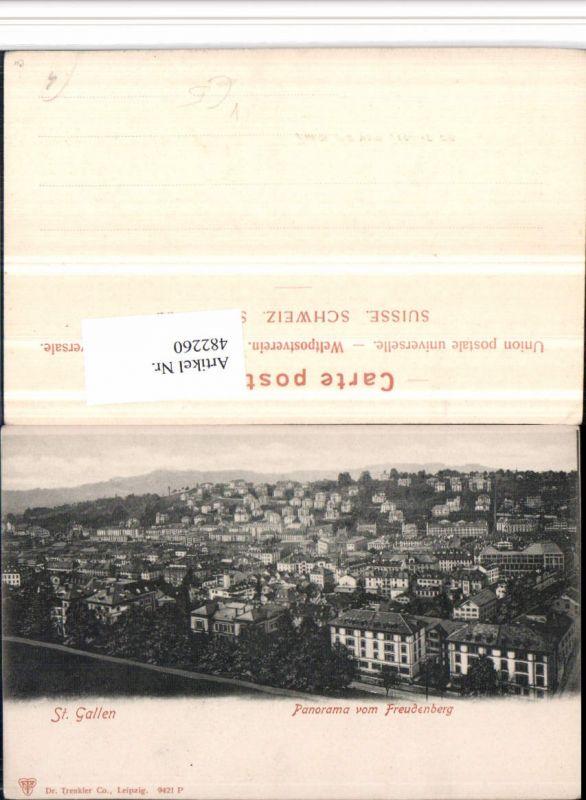 482260,St. Gallen Panorama vom Fruedenberg pub Trenkler 9421