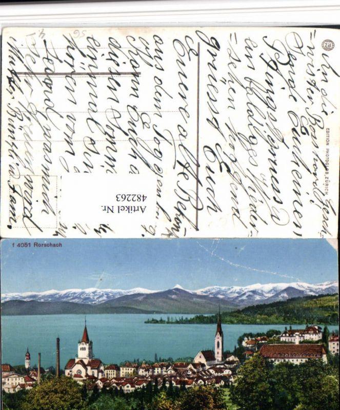 482263,Rorschach am Bodensee Totale Bergkulisse Kt St Gallen