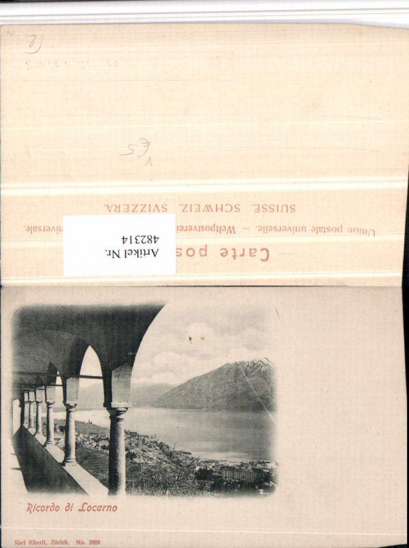 482314,Ricordo di Locarno Arkaden pub Karl Künzli 3559 Kt Tessin