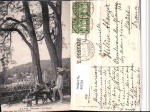 482358,Lausanne Le Signal Aussicht Männer Schirm Kt Waadt