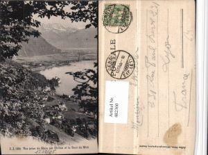 482360,Vue prise de Glion sur Chillon et la Dent du Midi b. Veytaux Kt Waadt