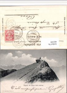 482399,Signal de Naye b. Veytaux Bergkulisse Kt Waadt
