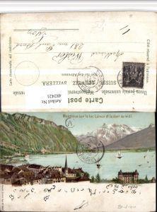 482421,Montreux Lac Leman Teilansicht Berggesicht pub Künzli 5019 Kt Waadt