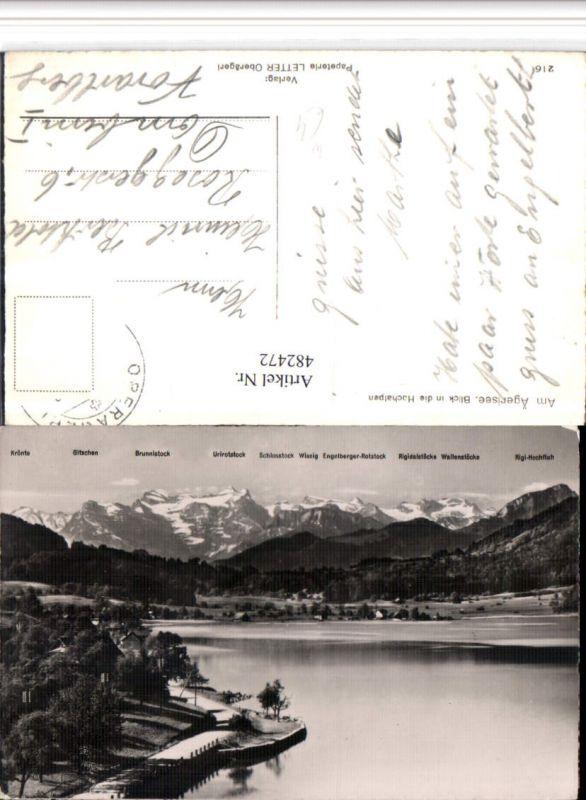 482472,Ägerisee See b. Zug m. Hochalpen Bergkulisse Kt Zug