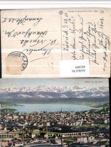 482489,Zürich Totale von d. Waid Bergkulisse pub Künzli-Tobler 5332