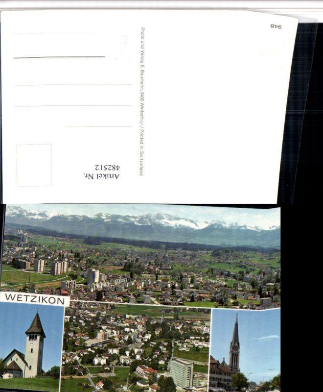 482512,Wetzikon Totale Kirche Mehrbildkarte Kt Zürich