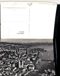 482514,Zürich Teilansicht Fliegeraufnahme Bergkulisse