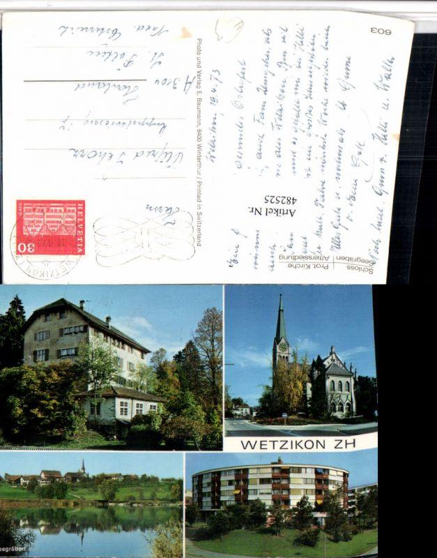 482525,Wetzikon Schloss Kirche Seegräben Mehrbildkarte Kt Zürich