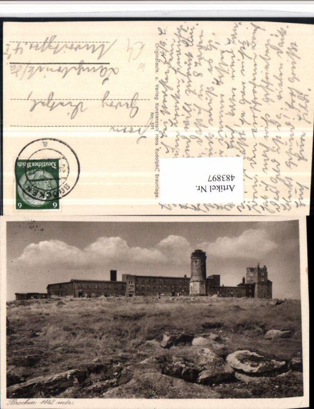 483897,Brocken b. Wernigerode Aussichtsturm Turm