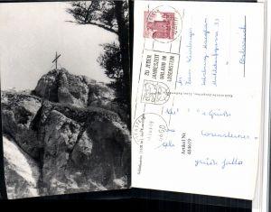 484619,Schieferstein b. Losenstein Felsen Kreuz