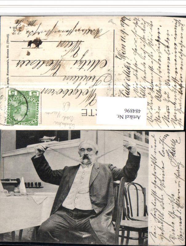 484896,Scherz Humor Exzentriker Mann m. Langem Bart