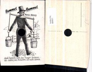484927,Künstler AK Scherz Humor Mann Wasserträger Loch