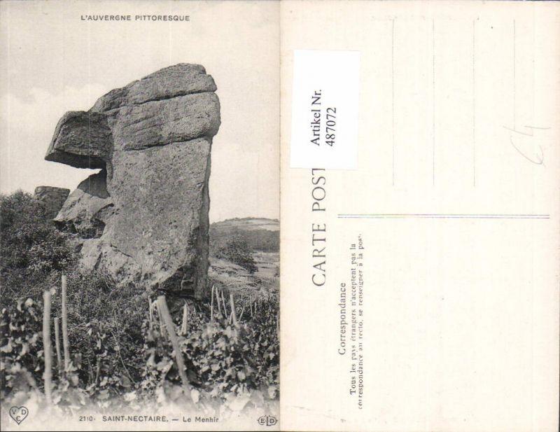 487072,Gesteinsformation Saint-Nectaire Le Menhir