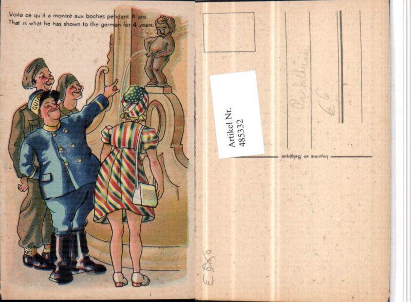 485332,Künstler AK Manneken-Pis Toilettenhumor Pinkelhumor