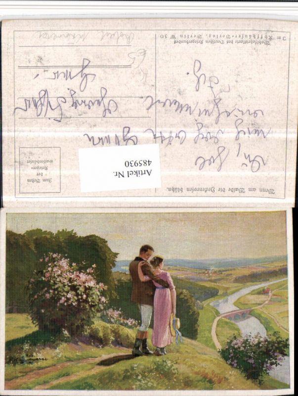 485930,Künstler AK Robert Kämmerer Liebe Paar Landschaft