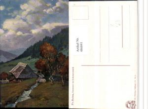 486041,Künstler AK Fr. Reiss Sommer im Schwarzwald pub Elchlepp 4