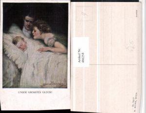 486254,M. Munk Vienne 742F Künstler Clarence F. Underwood Größtes Glück Familie