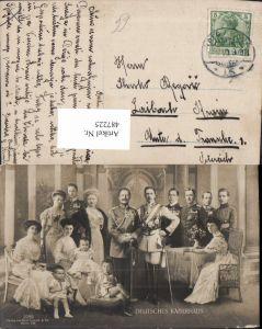 487225,Deutsches Kaiserhaus Gruppenbild Wilhelm II m. Familie Adel Monarchie