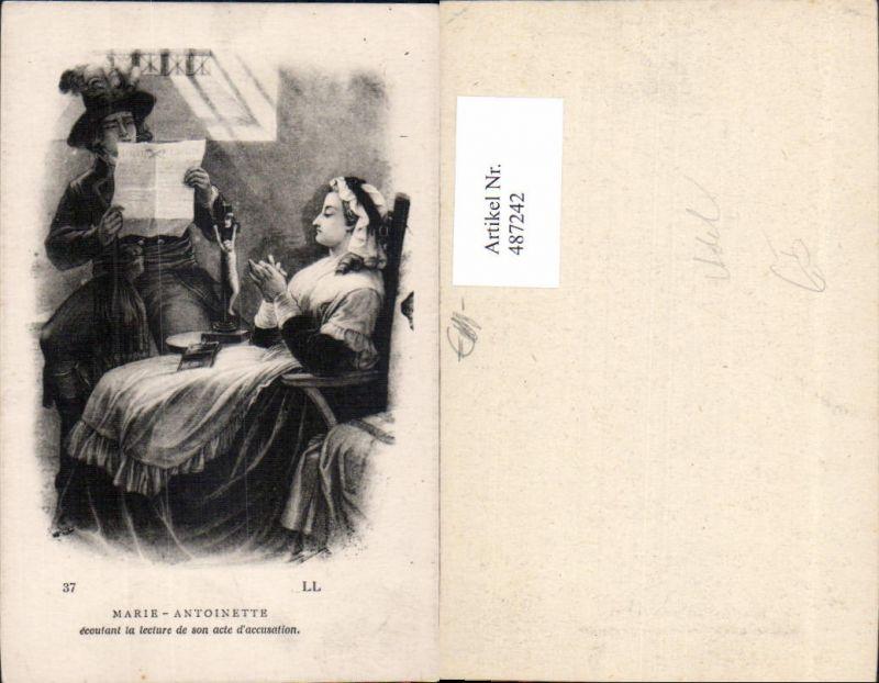 487242,Künstler Ak Marie Antoinette Soldat Lesen Adel Monarchie