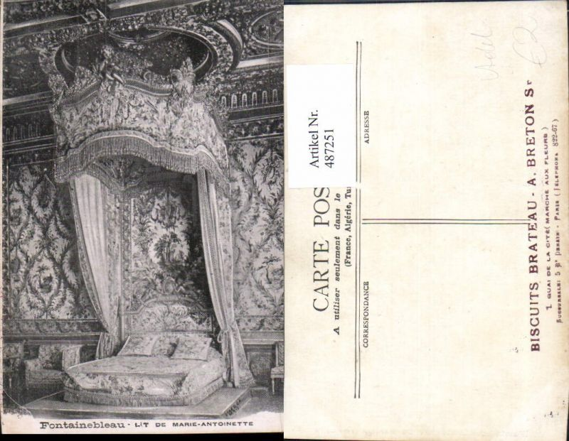487251,Fontainebleau Bett Marie Antoinette Adel Monarchie