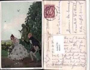 486415,Primus AK 3008 Künstler Helmut Skarbina Glücksspinne Paar Frau Kleid