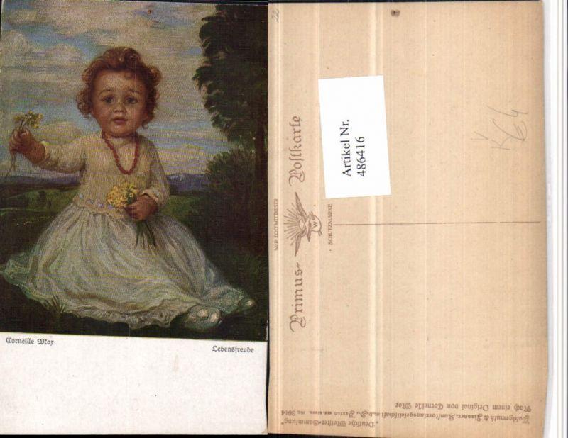 486416,Primus AK 3044 Künstler Corneille Max Lebensfreude Mädchen Blumen
