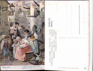 486451,Theo Stroefer 643/7 Künstler H. Kaufmann Familie Trauer Schillers Glocke