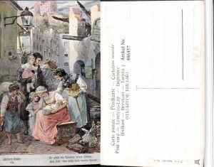 486457,Theo Stroefer 643/7 Künstler H. Kaufmann Familie Trauer Schillers Glocke
