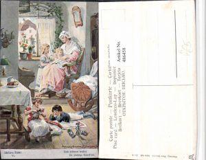 486458,Theo Stroefer 643/6 Künstler H. Kaufmann Hausfrau Kinder Schillers Glocke