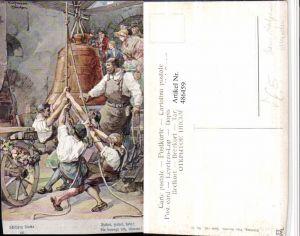 486459,Theo Stroefer 643/12 Künstler H. Kaufmann Männer Glocke Schillers Glocke