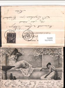 488956,Reverie Römische Frauen Kleider Baumblüte Krüge