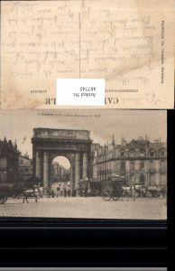 487745,Straßenbahn Bordeaux Place Bourgogne Reklame Chocolat Louit