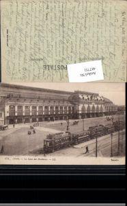 487751,Straßenbahnen Lyon La Gare des Brotteaux Reklame Chocolat Menier Bahnhof