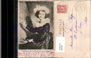 487784,Künstler Ak E. Vigee Le Brun Portrait de l Artistie par Elle-Meme Frau als Maler Künstler
